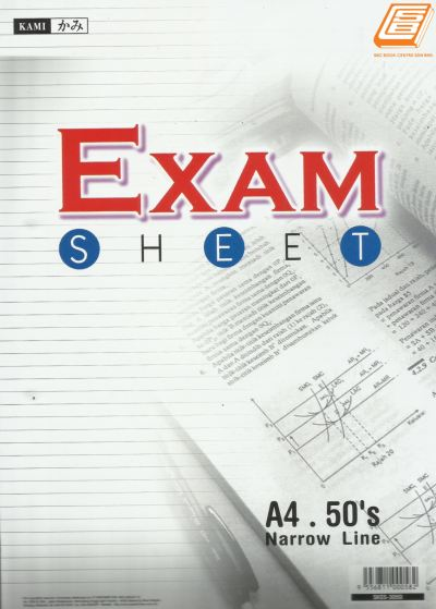 Kami - A4 Exam Sheet 50��S  - (3050)