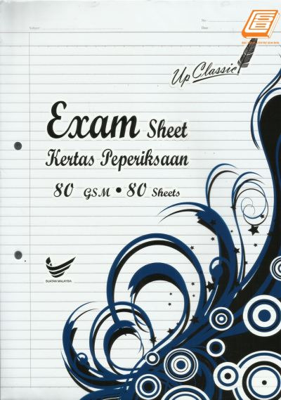 Update P - A4 Exam Sheet 80gsm, 80 sheets - (0883)