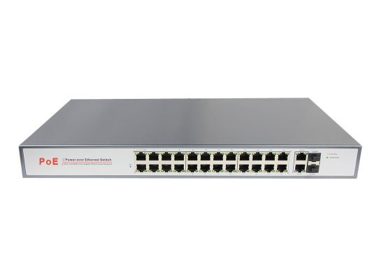 24 Port 10/100M Unmanaged PoE Switch (AZSW24HP-C2G2S)