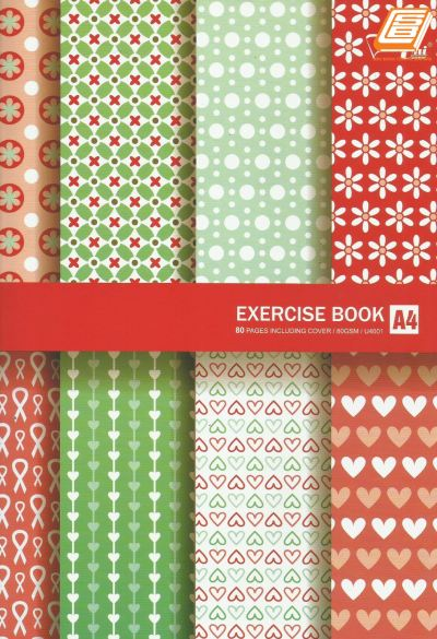 Uni - A4 Exercise Book 80gsm, 80pages - (U4001)