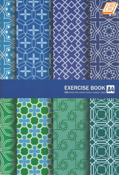 Uni - A4 Exercise Book 80gsm, 120pages - (U6001)