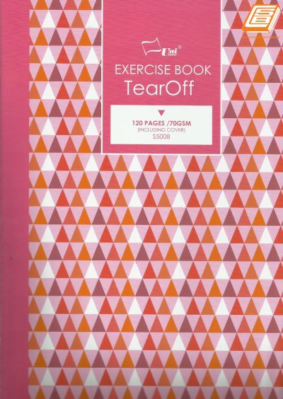 Uni - A4 Exercise Book Tear Off 70gsm, 120pages - (S5008)