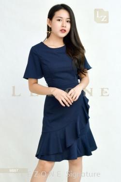 9887 RUFFLE DETAIL DRESS【ONLINE EXCLUSIVE 35%】