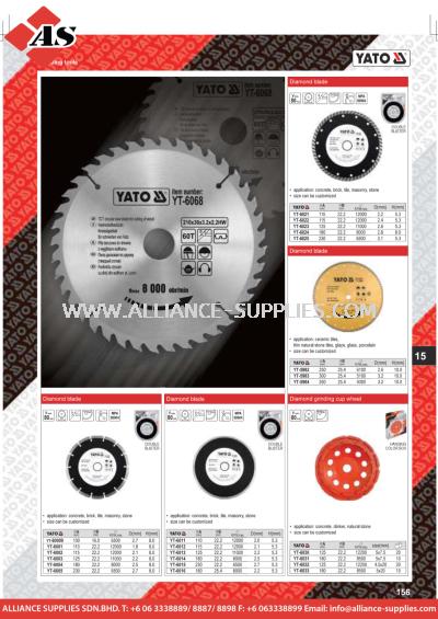 YATO Diamond Blade / Diamond Grinfing Cup Wheel