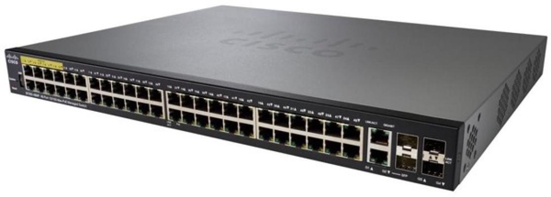 Cisco 48-port 10/100 POE Managed Switch.SF350-48P/SF350-48P-K9-UK