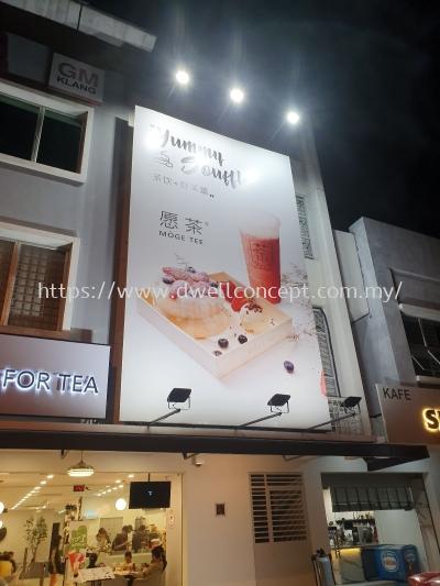 Moge tee led backlit 3d signage