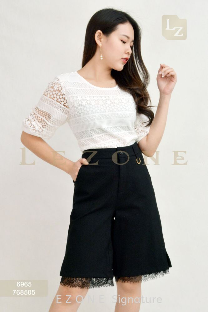 768505 LACE DETAIL CULOTTES【2ND 50%】