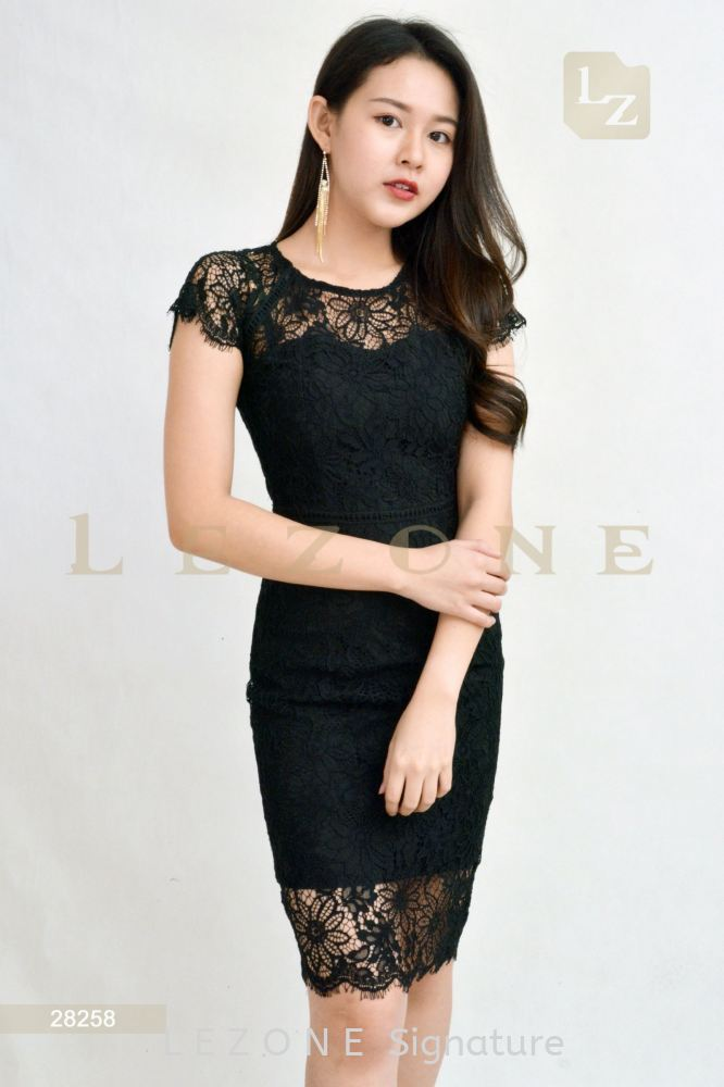 28258 LACE OVERLAY DRESS【1st 35% 2nd 45% 3rd 55%】