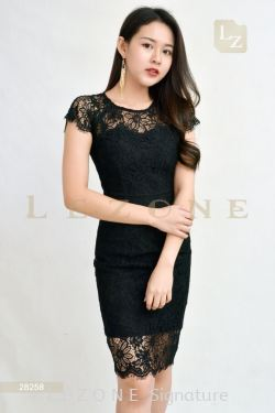 28258 LACE OVERLAY DRESS【30% 40% 50%】