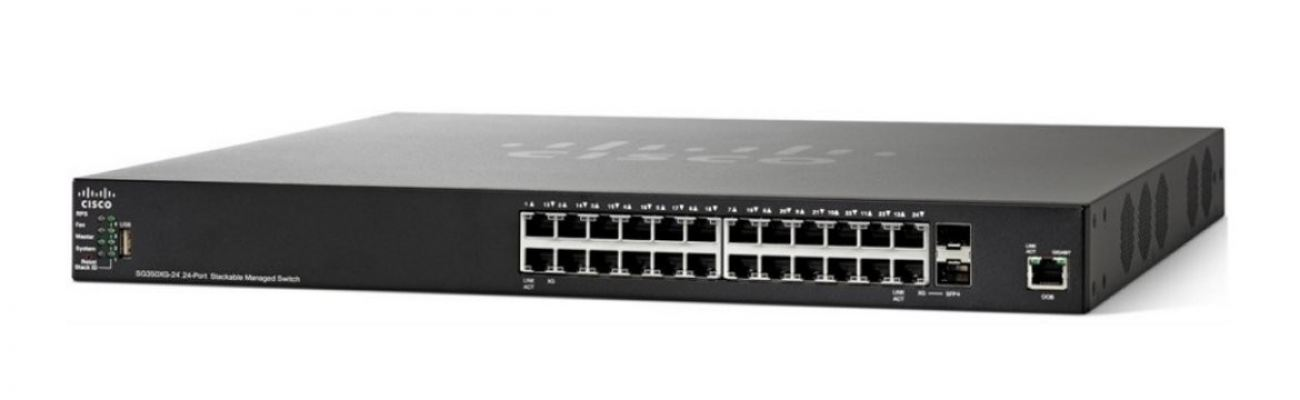 Cisco 24-port Gigabit POE Stackable Switch.SG350X-24P/SG350X-24P-K9-UK