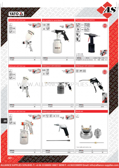 YATO Spray Gun With Fluid Cup / Gun Suitable For Sand-Blasting / Inflating Gun With Extension