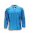 ATTOP COLLAR LONG SLEEVE ALS 600A TURQUOISE Polo Tee Plain Tee