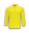 ATTOP COLLAR LONG SLEEVE ALS 600A YELLOW Polo Tee Plain Tee