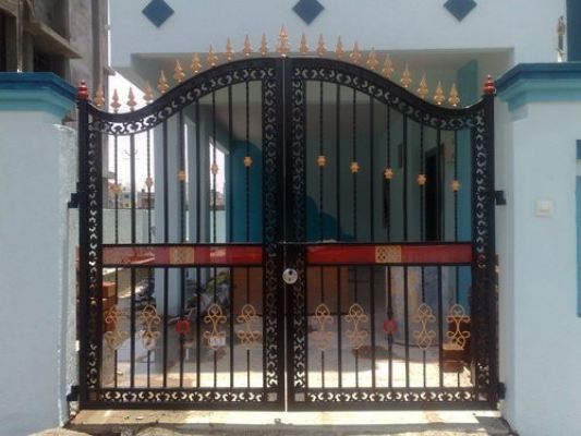 Mild Steel Gate With Wrought Iron  22