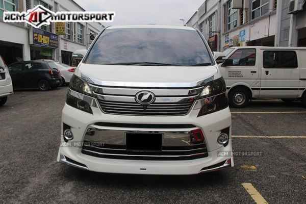 Toyota vellfire 2013 front bumper chrome product