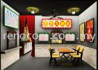Restaurant 3d interior design drawing