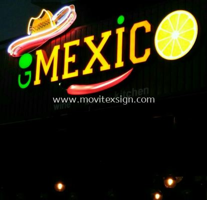 Neon and Led Signboard give you a stronger eye catching with 3D effect, more attraction at night