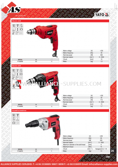 YATO Electric Drill / Drywall Screwdriver