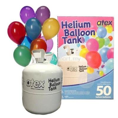 Helium Gas Balloon Tank - 50pcs Balloons