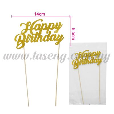 Cake Topper *HAPPY BIRTHDAY GOLD (CT-HB-11GO)