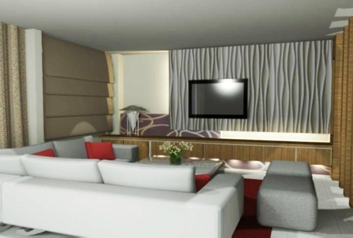 吉隆坡客厅设计 客厅3D设计 吉隆坡室内设计承包商 3D设计图