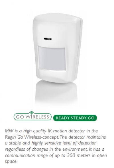 IRW -Wireless motion detector