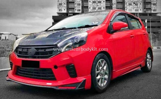 PERODUA AXIA 2017 FACELIFT NEW DRIVE 68 BODYKIT WITH SPOILER