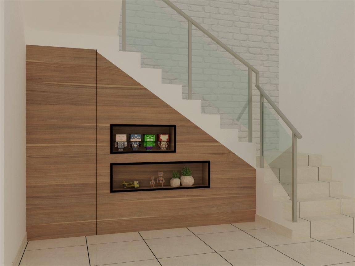 Living Hall Design - Selangor Interior Design Contractor - Kuala Lumpur 3D Design Drawing