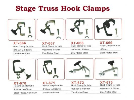Stage Truss Hook Clamps
