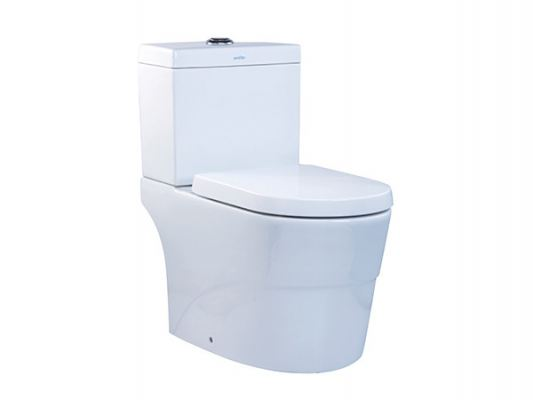 WC 1026 / LC 5026 Rhodium WC Suite Close Couple Wash Down Pedestal WC Suite
