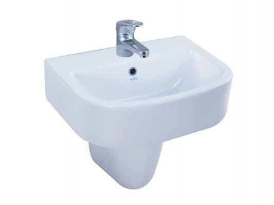 WB 2043 / BP 3007 Enthalpy Basin Wall Hung Pedestal Wash Basin