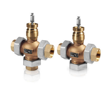 ETRS...3-way control valves DN15-50, kvs 0.63-40, 20 mm stroke, DZR