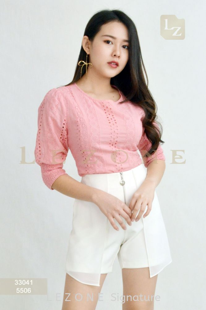 33041 LACE OVERLAY BLOUSE【1st 35% 2nd 45% 3rd 55%】