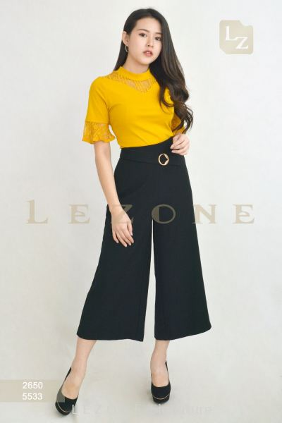 5533 WAIST DETAIL CULOTTES【2nd pcs onwards 50%】