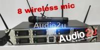 Audio2u Show 8 piece Wireless Mic Audio2u Wireless Microphone