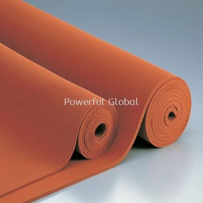 Silicone Sponge Sheet Red