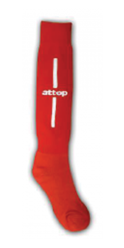 ATTOP SOCCER SOCKS AS09 RED/WHITE