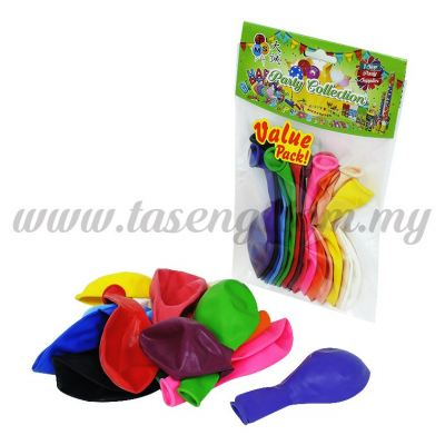 12 inch Standard Balloon Assorted Color 15pcs(B-SM15)