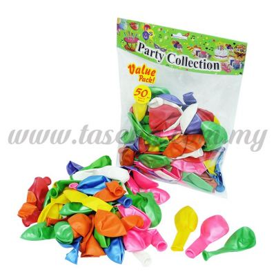 9 inch Metallic Balloon Assorted Color 50pcs (B-9M50)