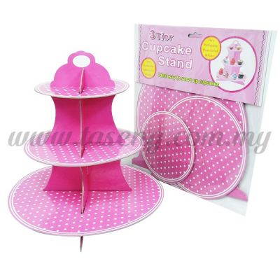 Cup Cake Stand Polka Dot * PINK (P-CS-PDP)