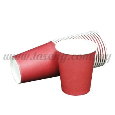 Paper Cup Plain Red 20pcs (P-PC-PR)