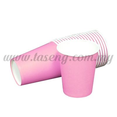 Paper Cup Plain Pink 20pcs (P-PC-PP)