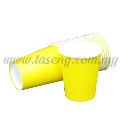 Paper Cup Plain Yellow 20pcs (P-PC-PY)