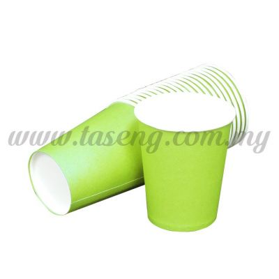 Paper Cup Plain Lime Green 20pcs (P-PC-PLG)