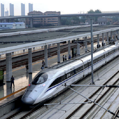 High-speed commuter rail begins service in south China's tropical city