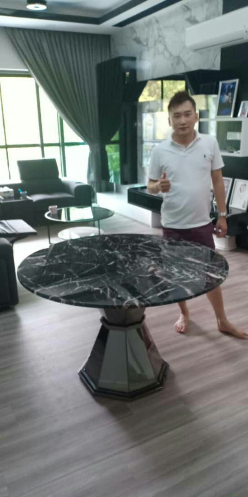 Modern Marble Dining Table From Spain - Marrone Marble