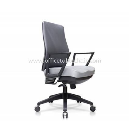 AMPLO EXECUTIVE MEDIUM BACK CHAIR C/W NYLON ROCKET BASE ACL 488(A)