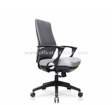 AMPLO EXECUTIVE MEDIUM BACK CHAIR C/W NYLON ROCKET BASE ACL 488(B)