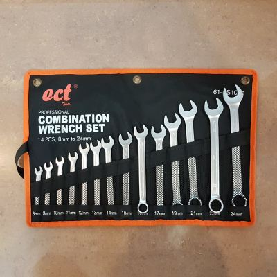 8-24mm ECT 14pcs Compbination Wrench Set ID31232