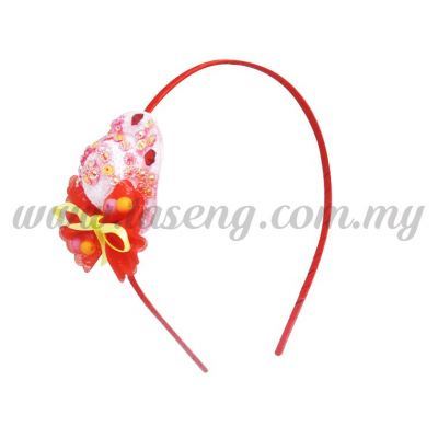 Hairband 18 LITTLE HAT *RED (DU-HB18-R)